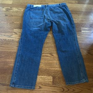 LOFT Jeans - The loft relaxed skinny crops size 29 8 petite NWT